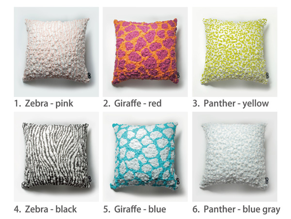 animal cushion color