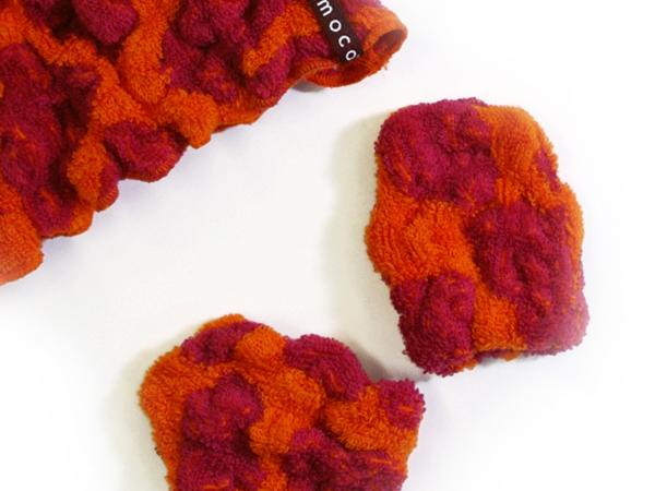 Baby ecomoco animal Towel Mitten / ベビーエコモコアニマルタオルミトン