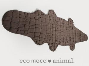 吸水性抜群!ecomoco animal / クロコダイルワニ型マット