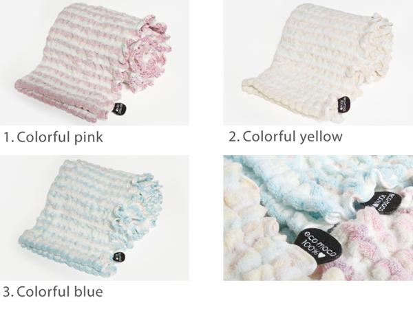 エコモコシャーベット カラフルバスタオル (無撚糸)・ecomoco bath towel