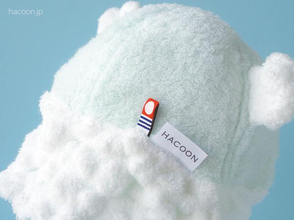 白雲(HACOON)ベビーキャップ (モコモコくま耳付)